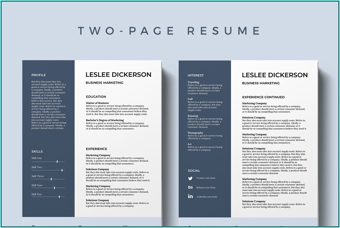 Ms Word Resume Template Free Download