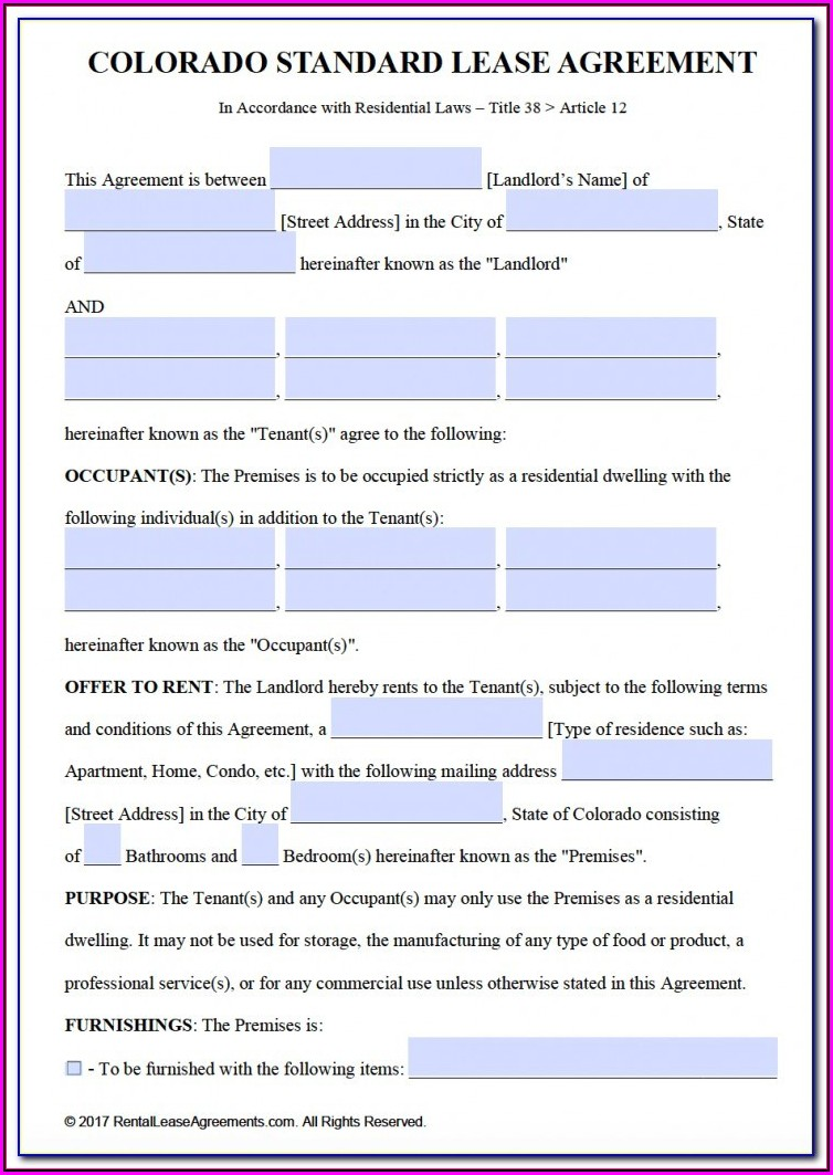 New Jersey Association Of Realtors Standard Form Of Residential Lease 2017