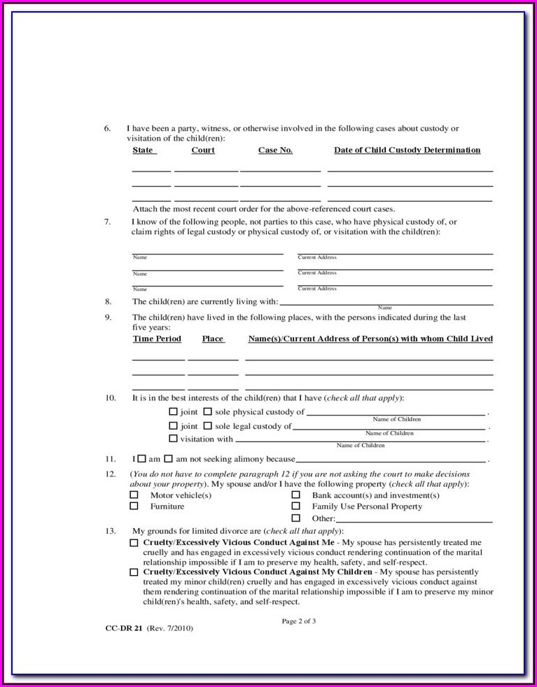 New Mexico Legal Separation Forms