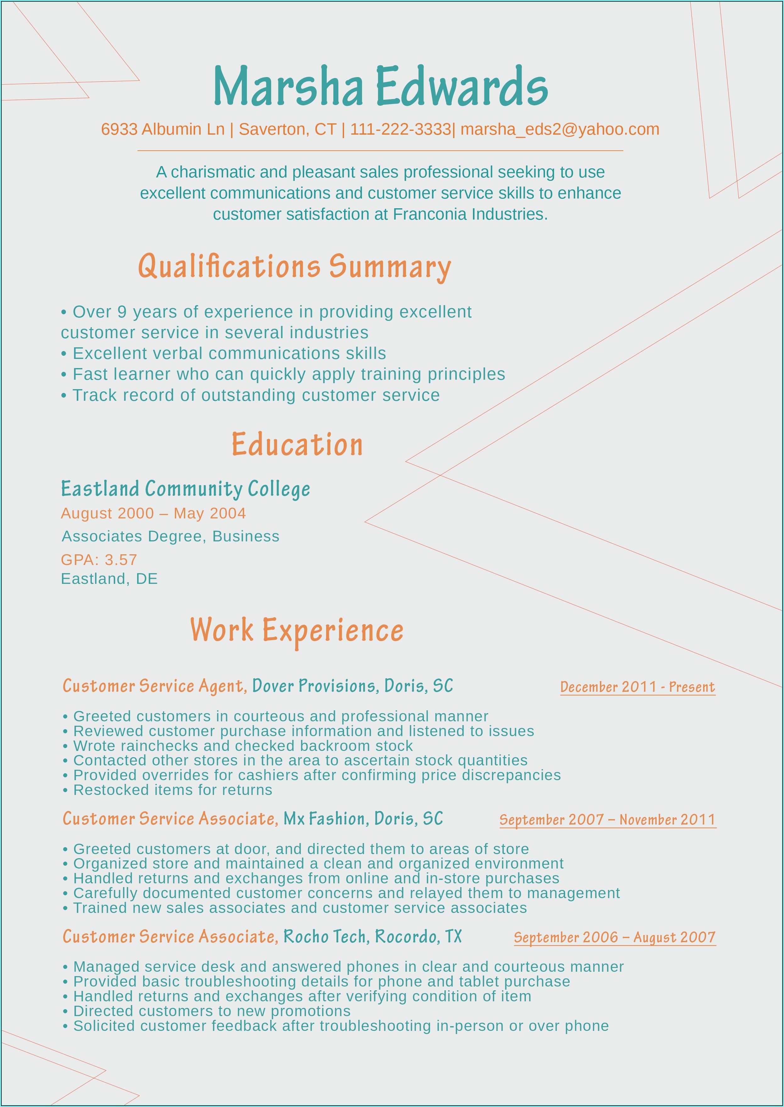 Newest Resume Format 2018