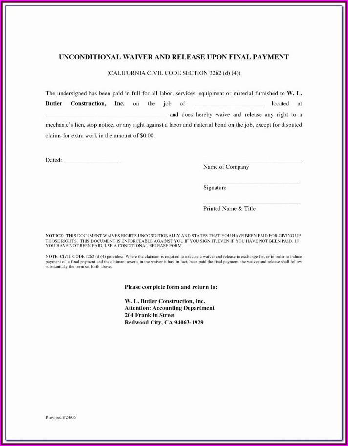 Notice Of Mechanic's Lien California Form