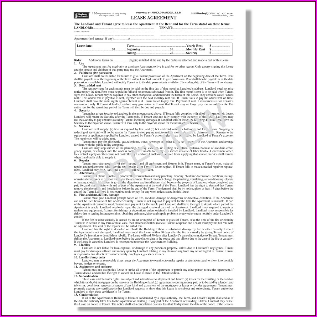 Nyc Lease Renewal Form Pdf