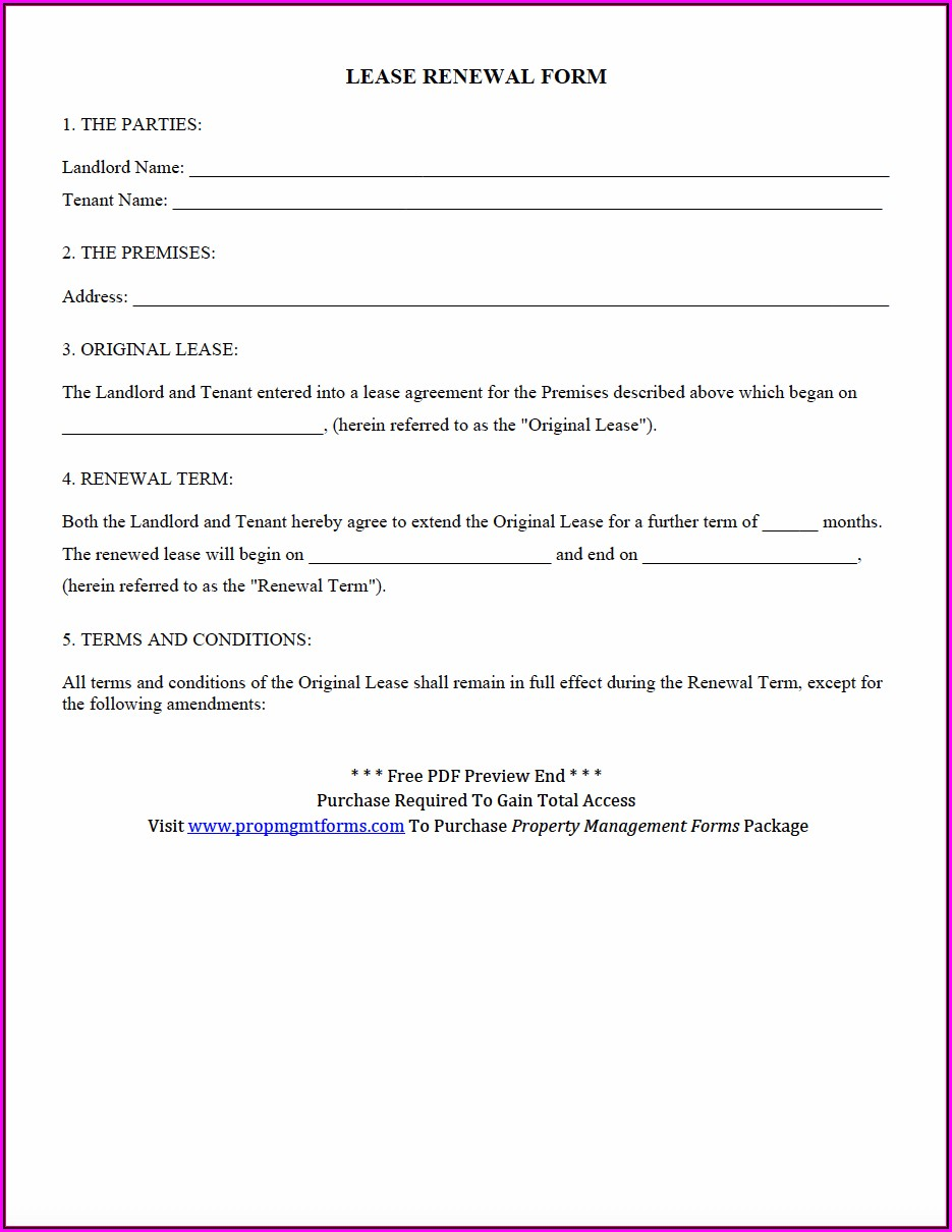 Nyc Rent Stabilized Lease Renewal Form Pdf