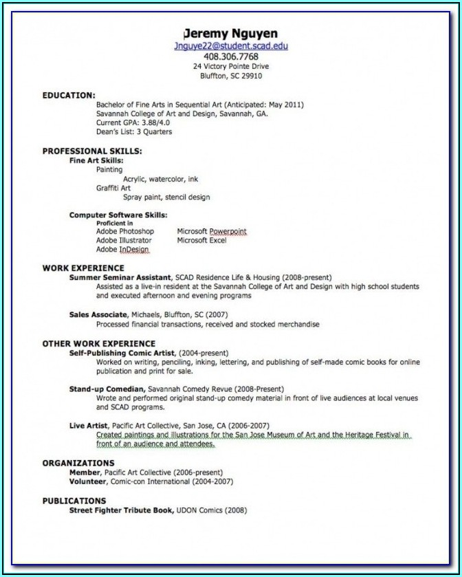 Online Resume Builder For High School Students