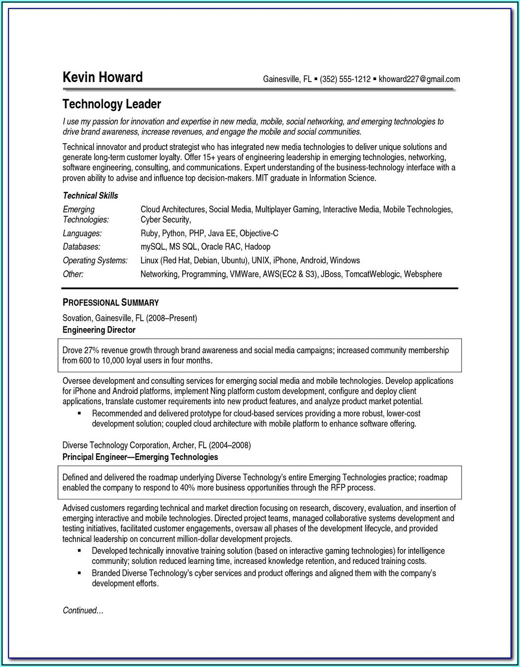 Online Resume Maker And Free Download