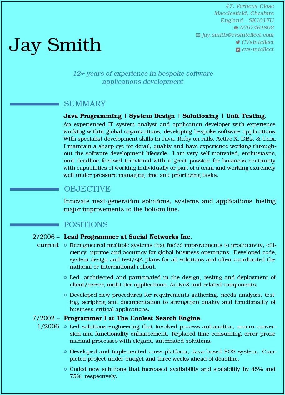 Online Resume Maker Free