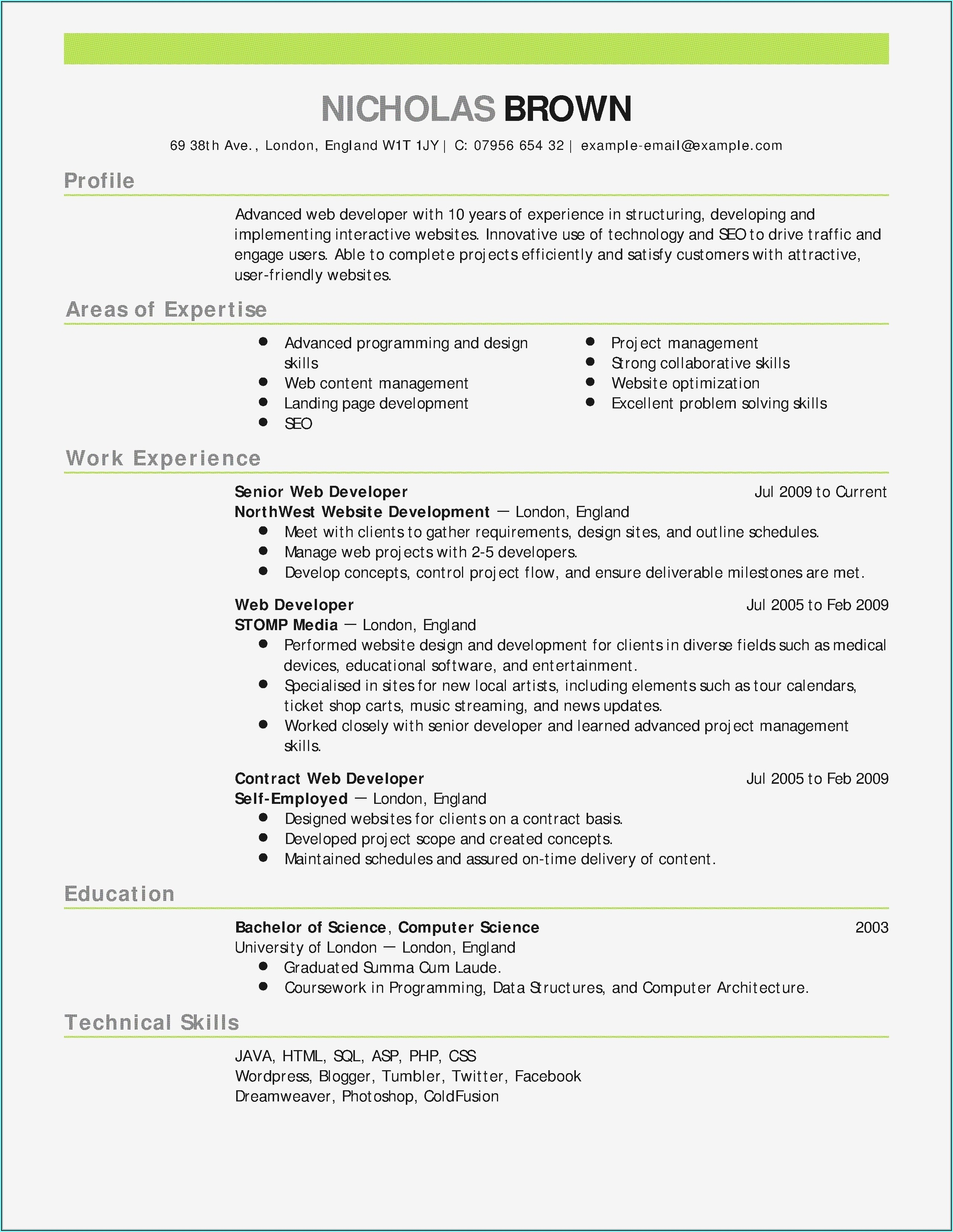 Online Resume Maker Professional Free