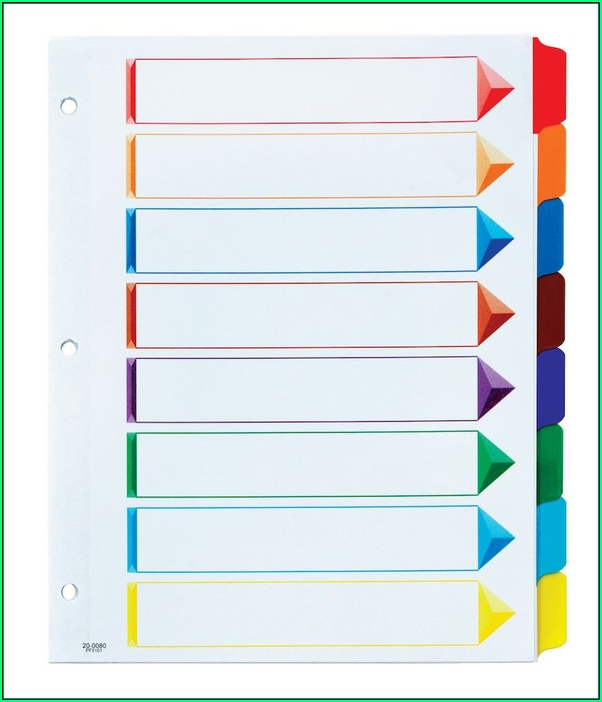 Oxford 8 Tab Divider Template
