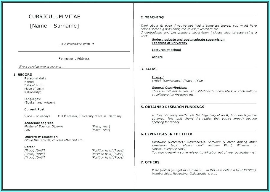 Personal Resume Website Templates Free Download