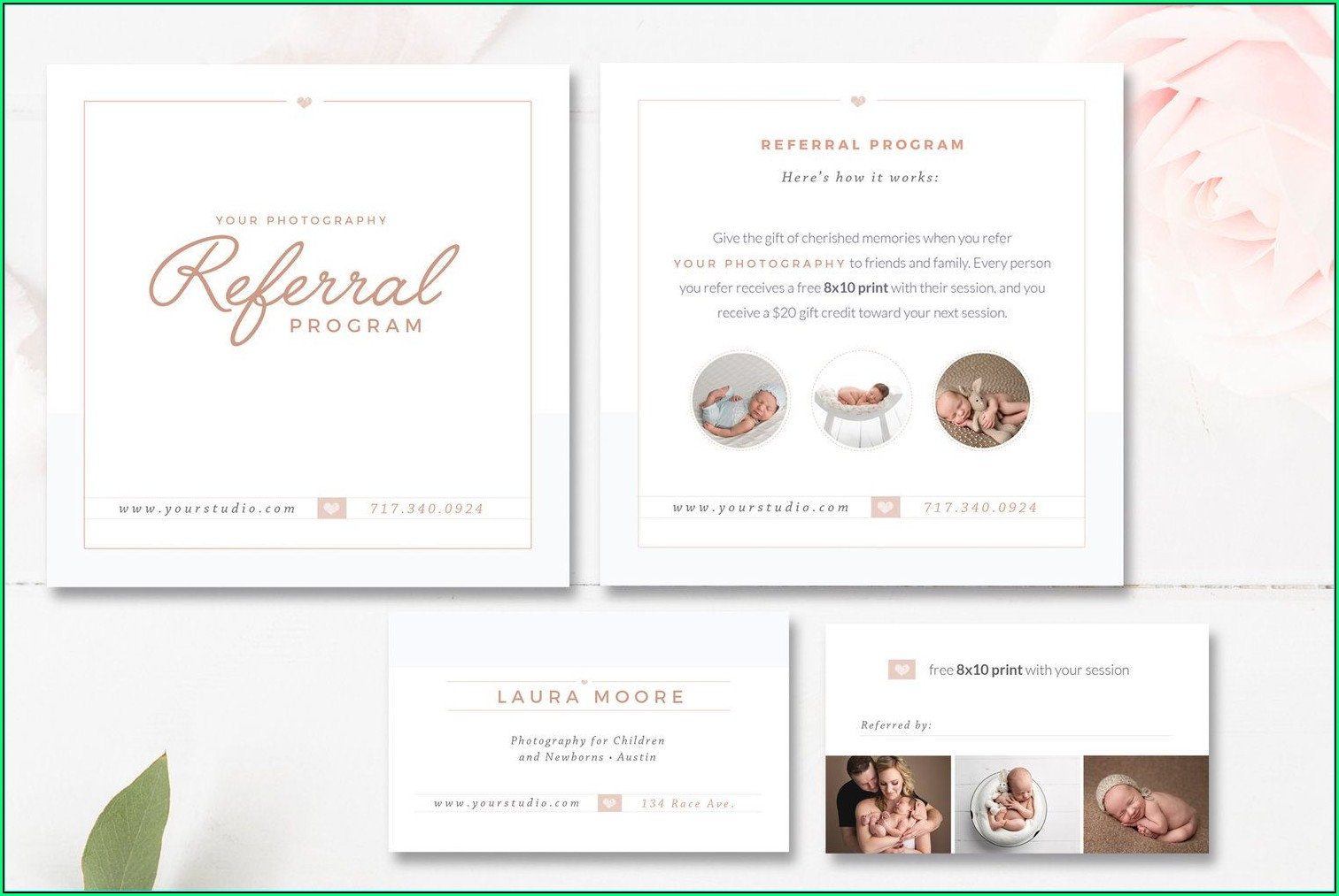 Photography Referral Card Templates