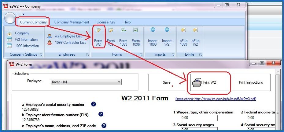 Print W2 Forms