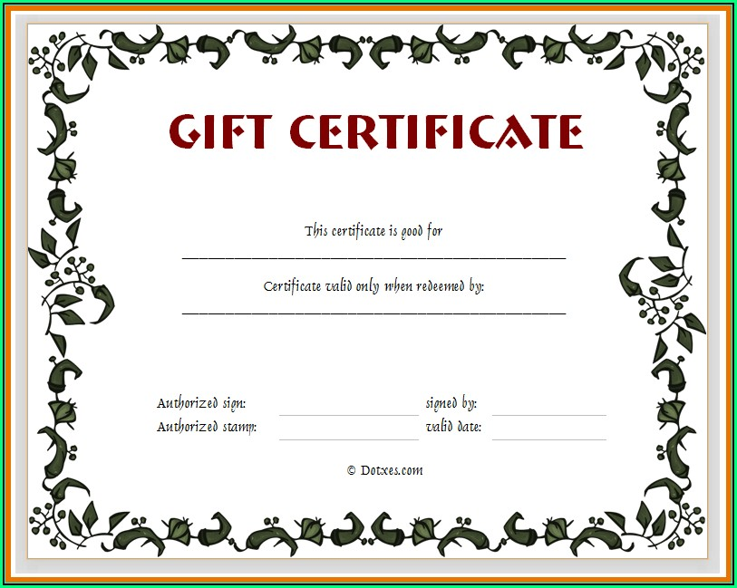 Printable Certificate Template Free