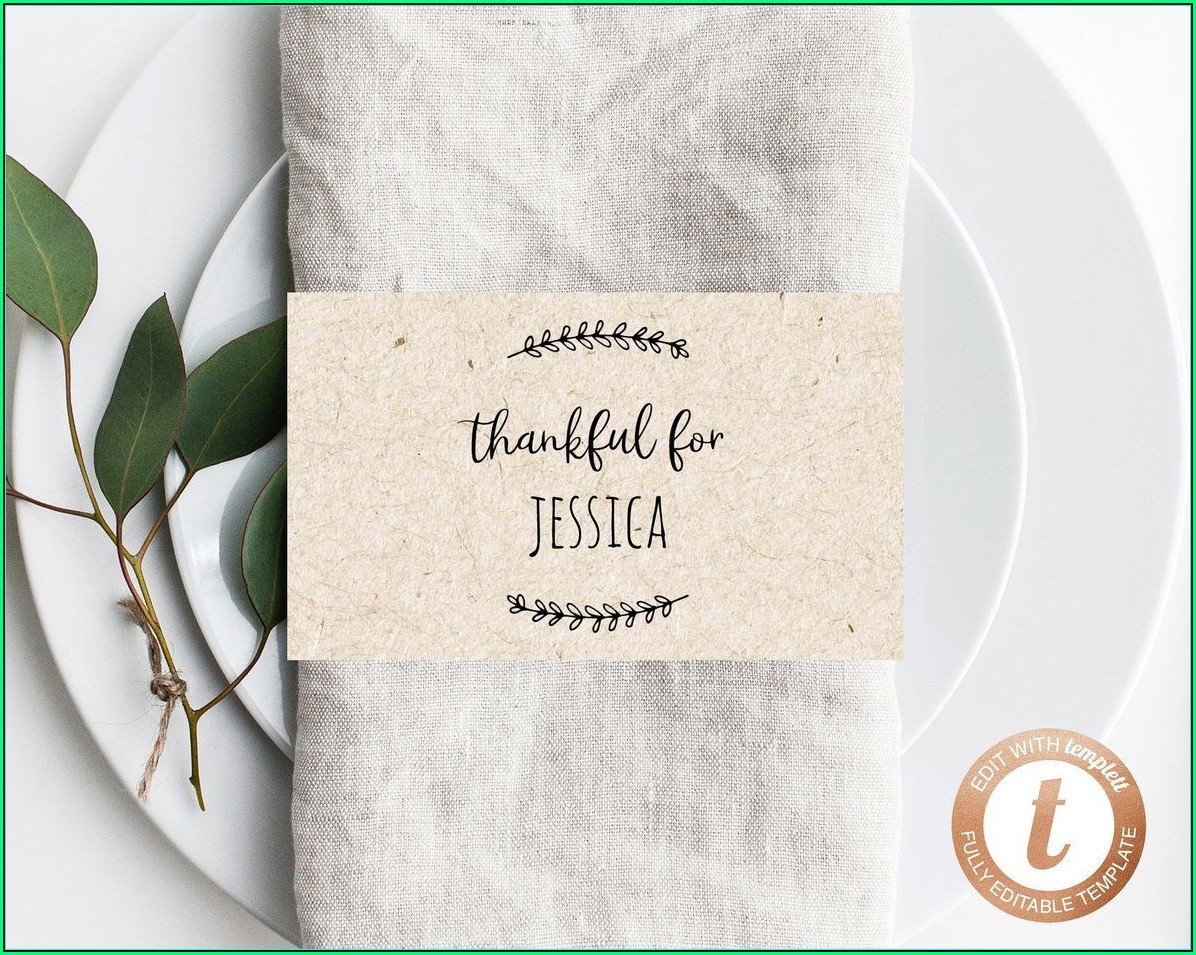 Printable Thanksgiving Place Cards Template