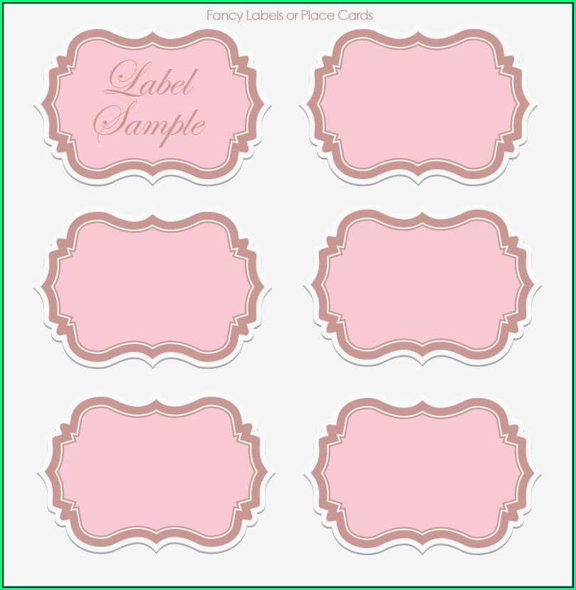 Printable Wedding Label Templates Free