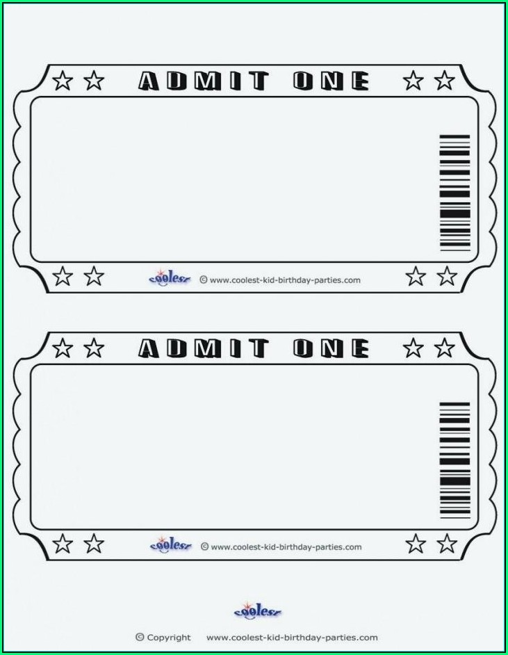 Prom Ticket Templates Free