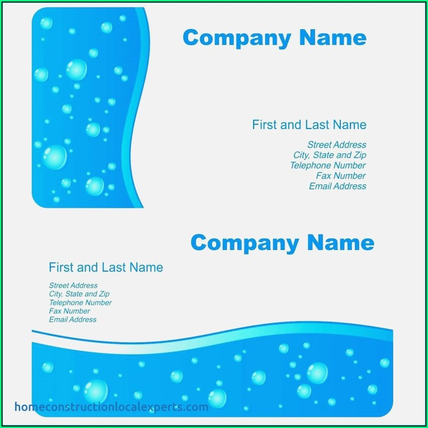 Publisher Business Card Templates Free