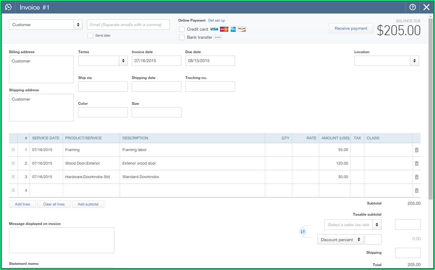 Quickbooks Invoice Template Import