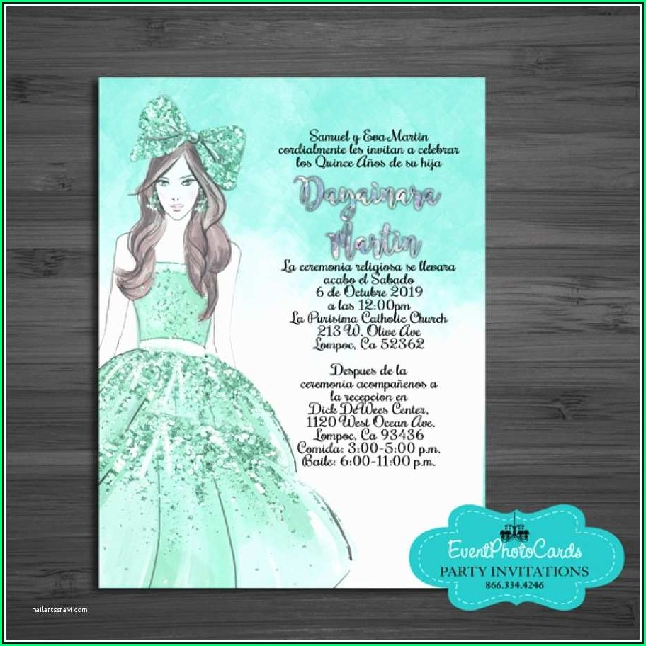 Quinceanera Invitation Templates In Spanish