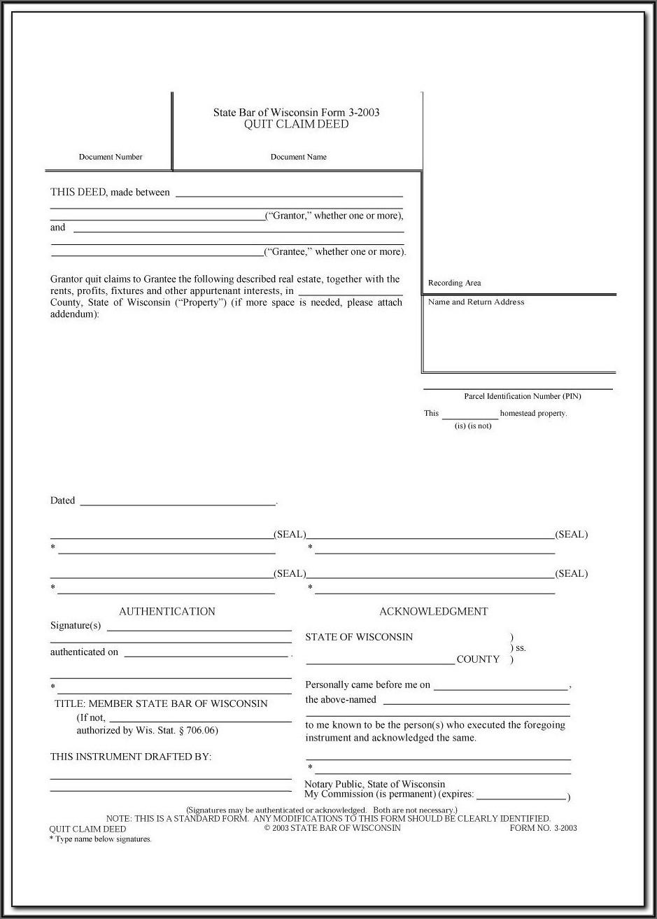 Quit Claim Deed Form Franklin County Ohio
