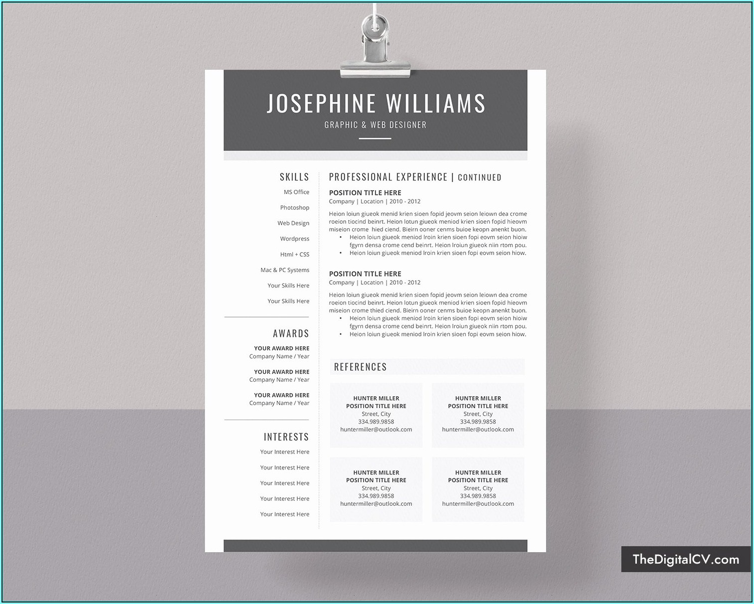 Ready Made Resume Free Download