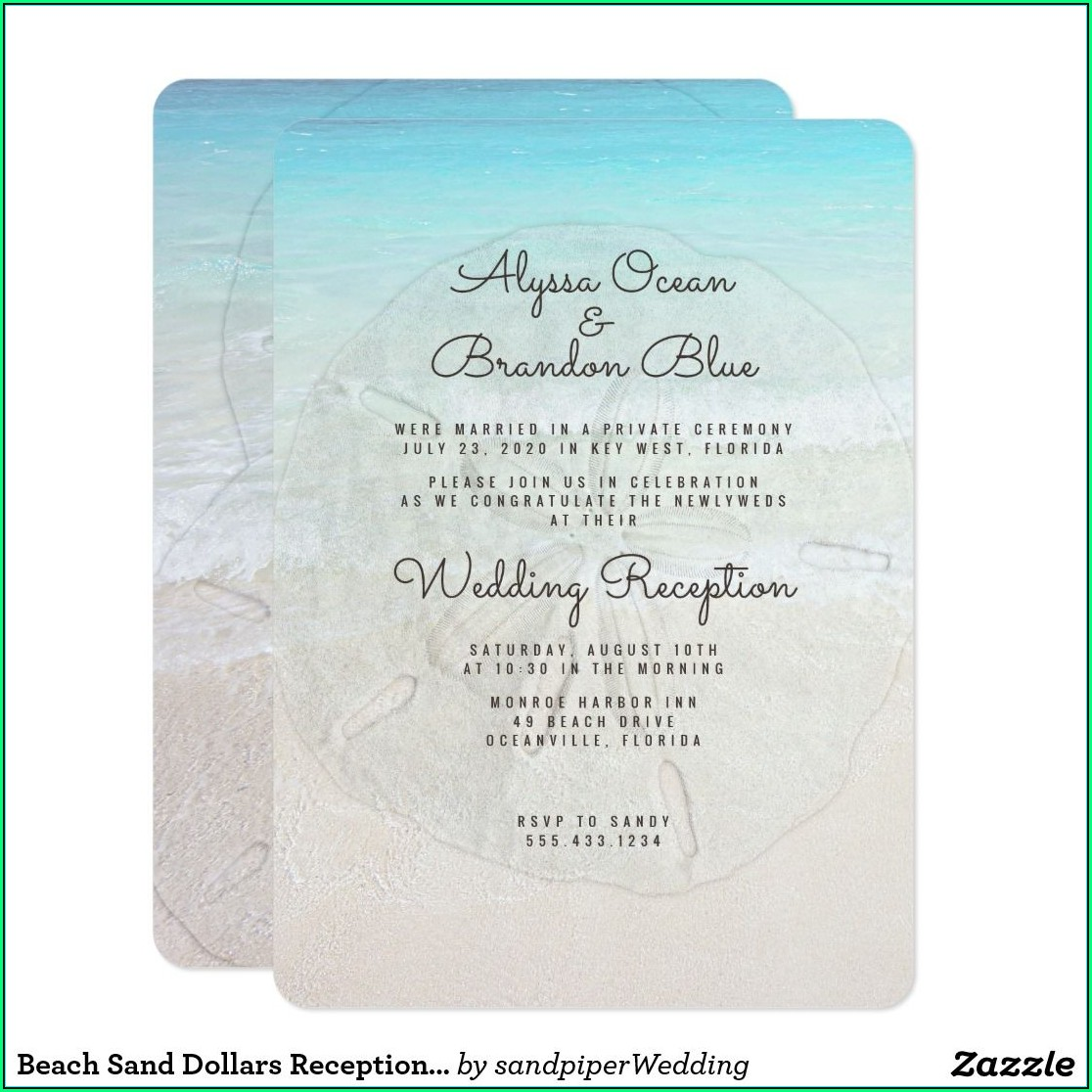Reception Invitation Designs