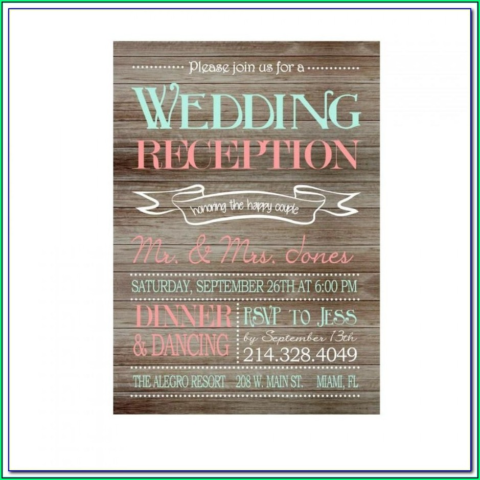 Reception Invitation Template Free