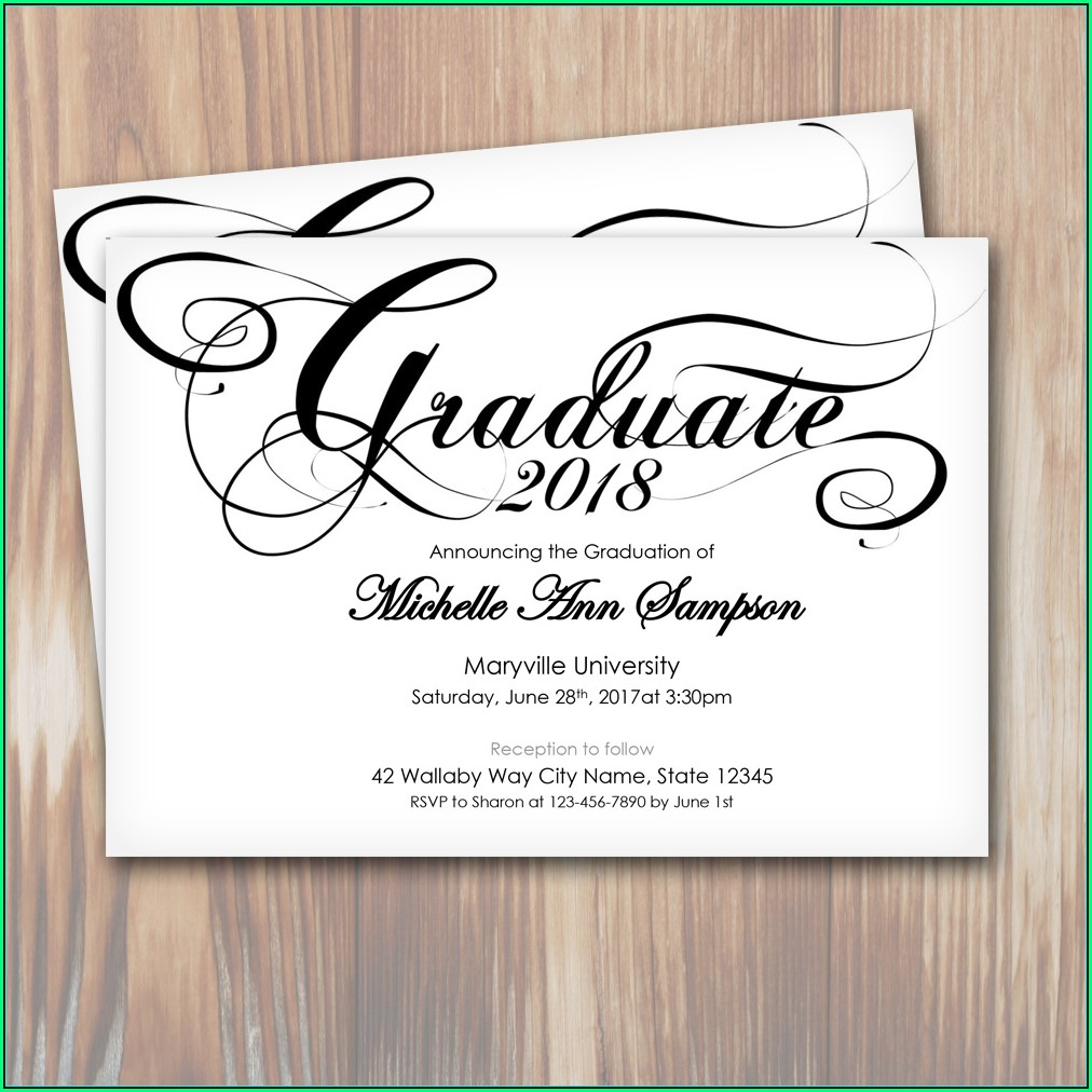 Reception Invitation Templates Free Download