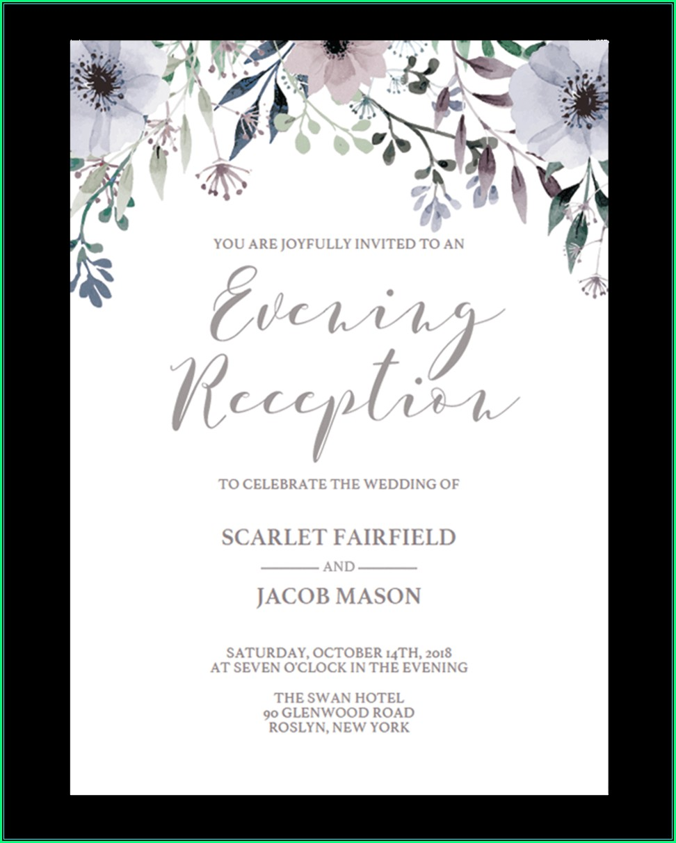 Reception Invitation Templates