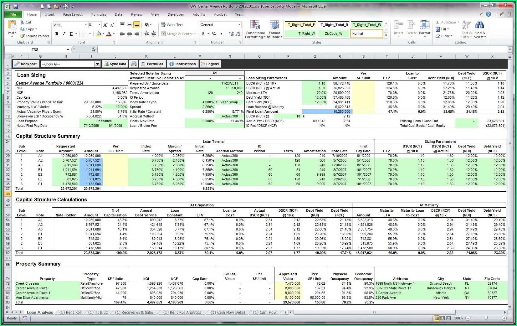 Rental Property Spreadsheet Template Uk