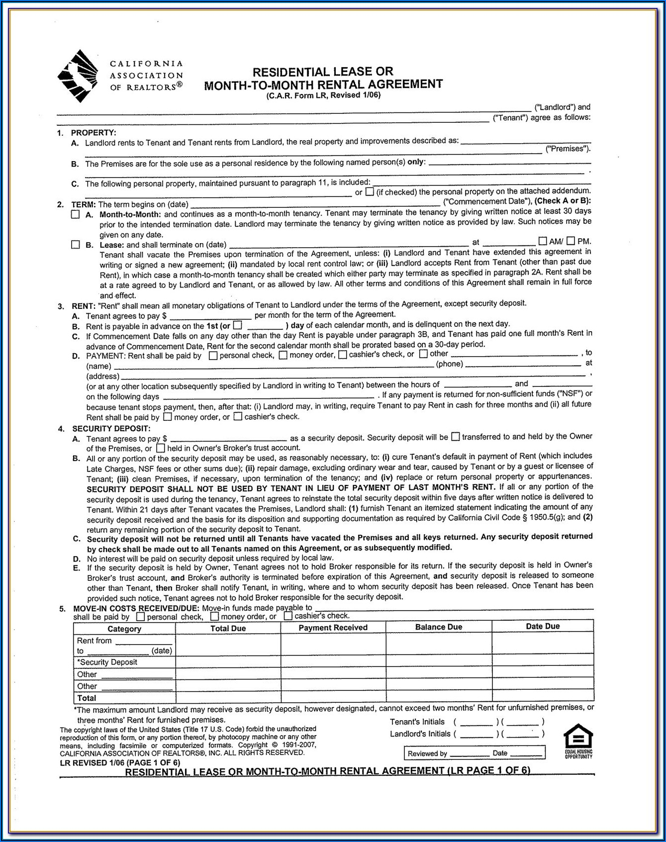 Residential Lease Forms Ny