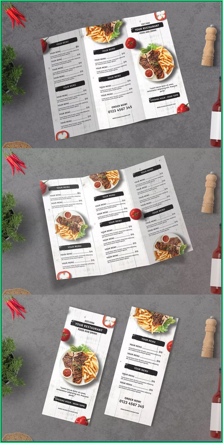 Restaurant Menu Design Templates Psd