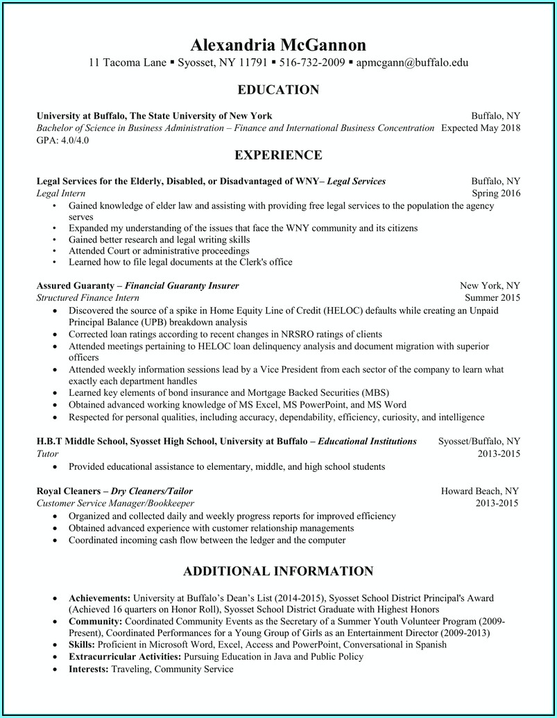 Resume Assistance Buffalo Ny