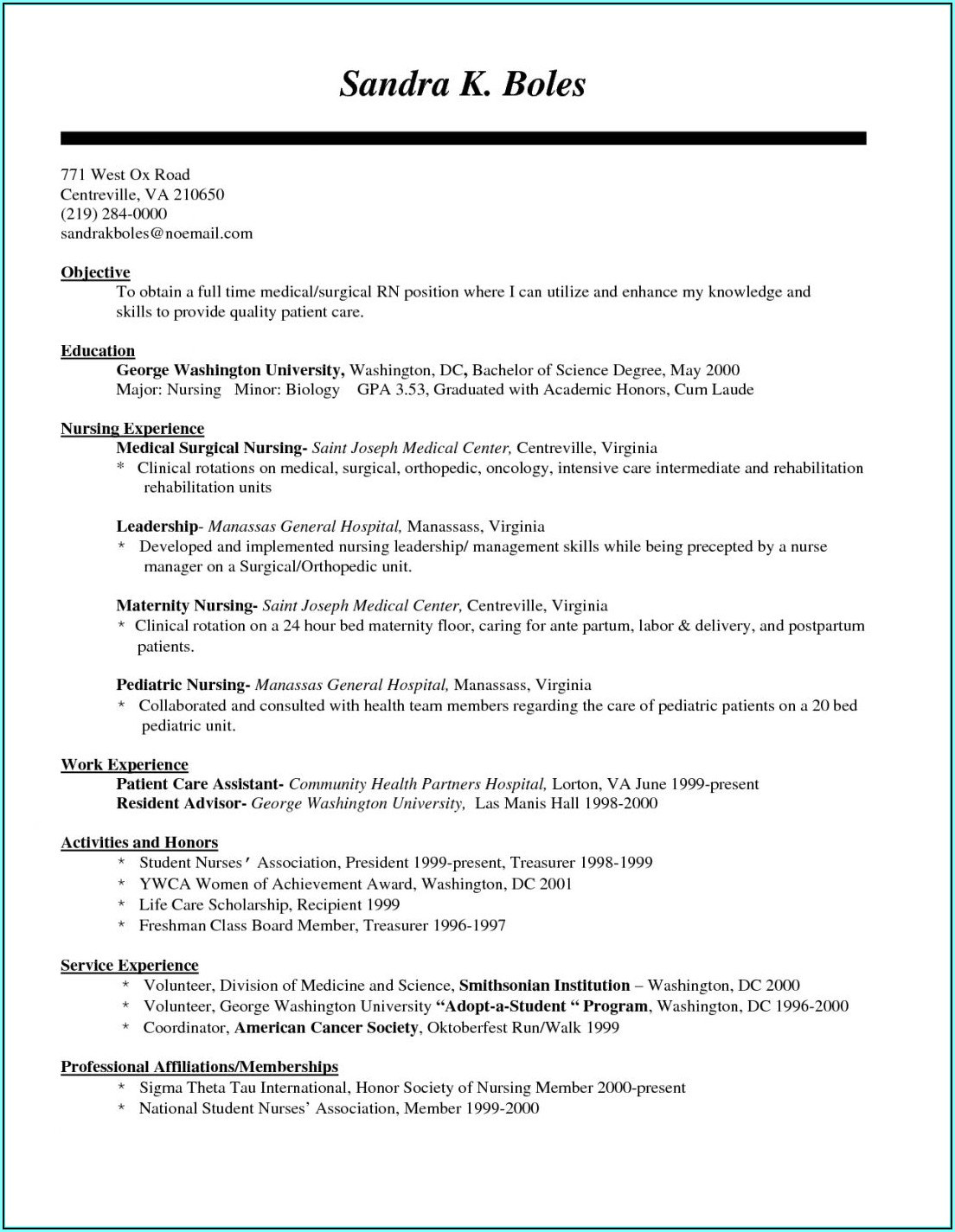 Resume Builder Career Objective
