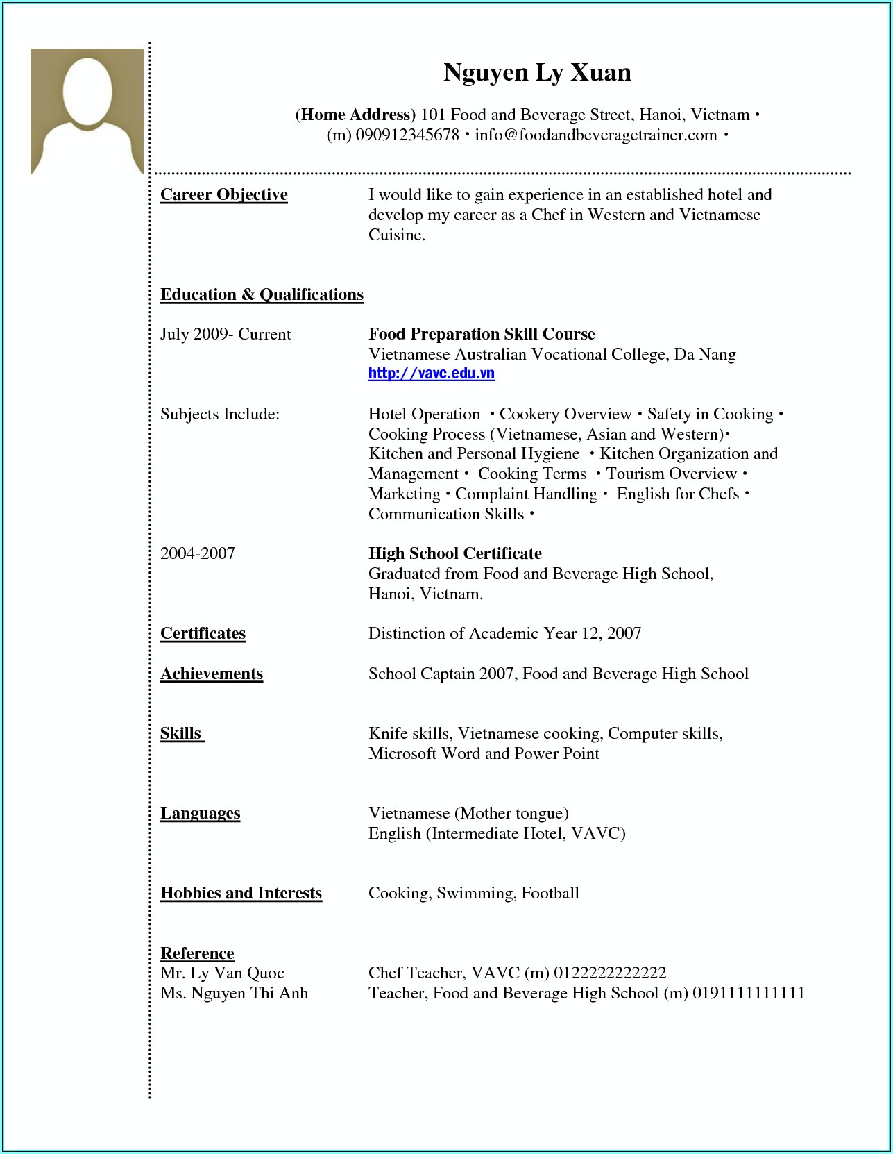 Resume Builder With No Work Experience