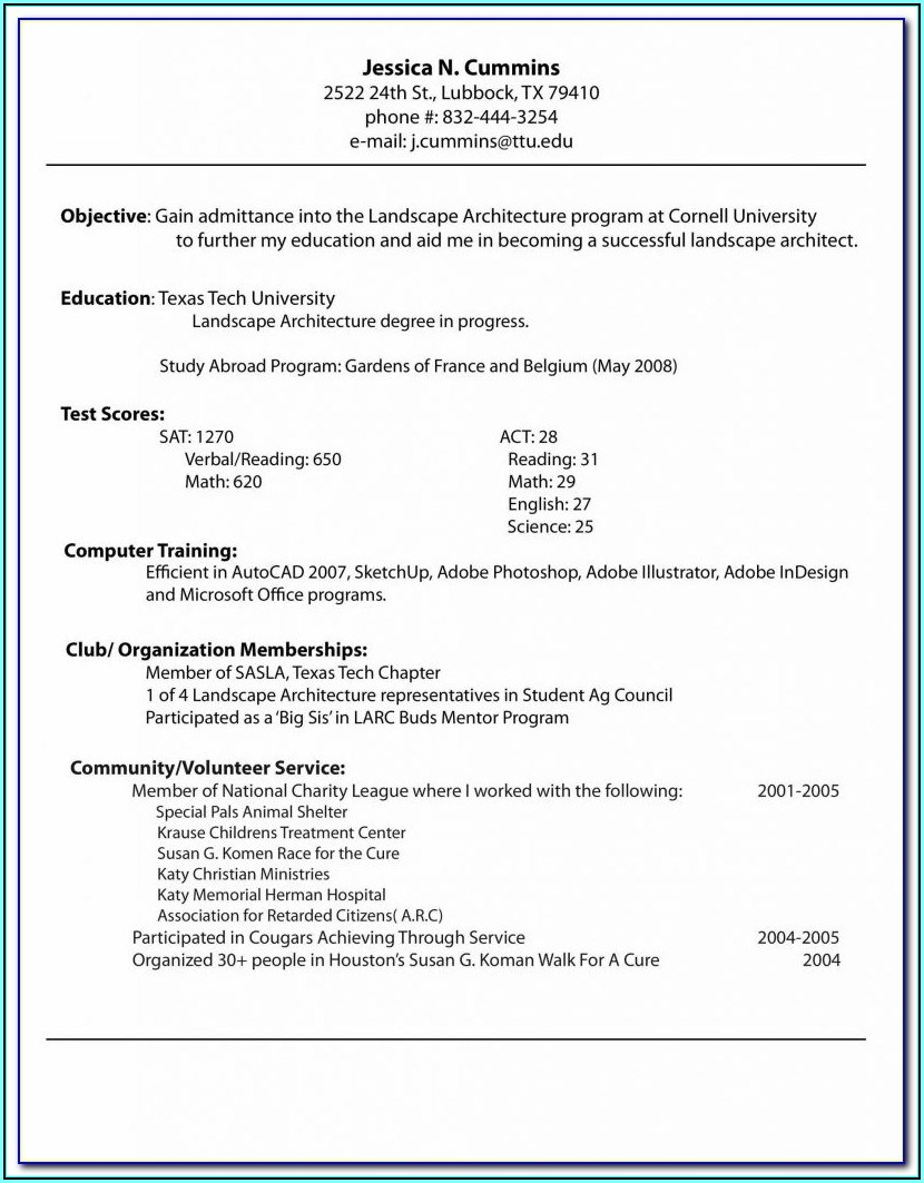 Resume Building Courses