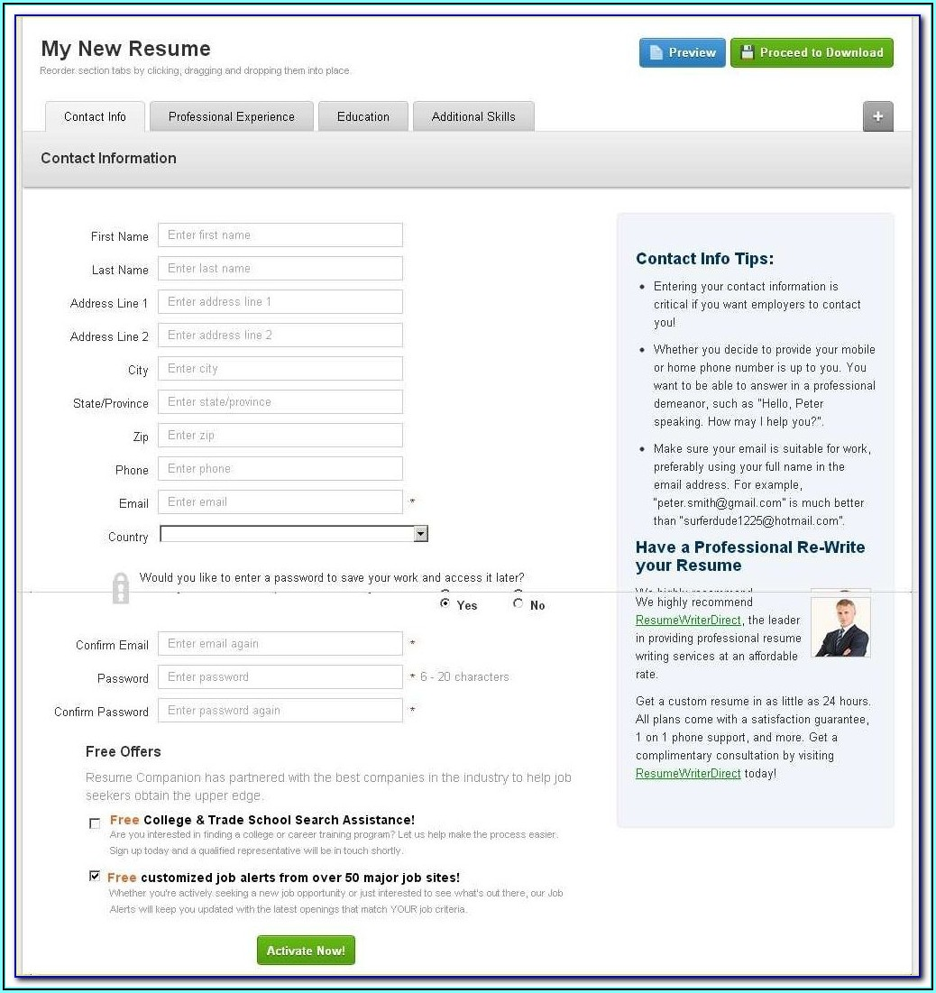 Resume Creator Free Download