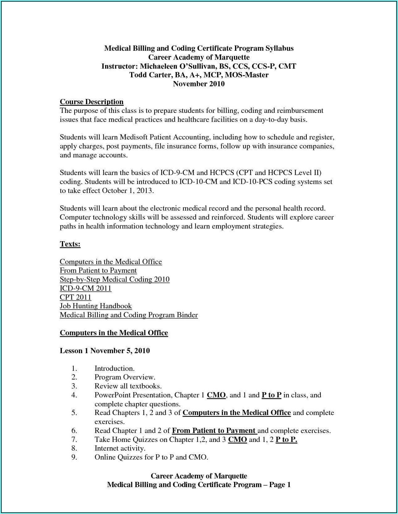 Resume For Medical Billing With Experience