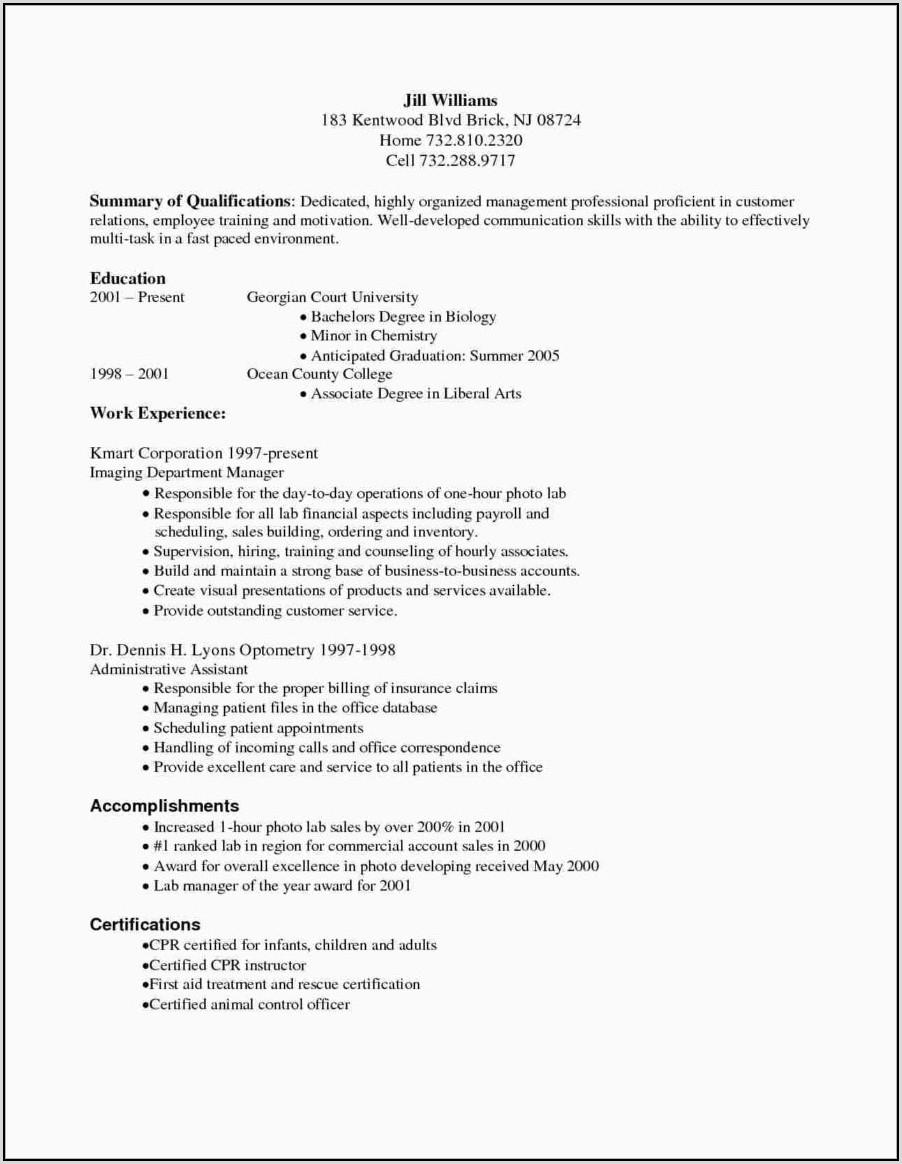 Resume For Medical Billing