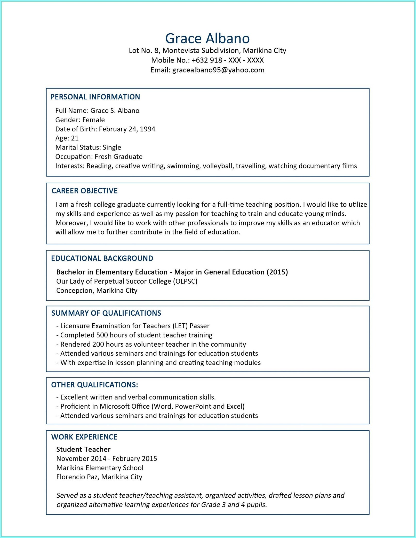 Resume Format Download In Ms Word For Accountant