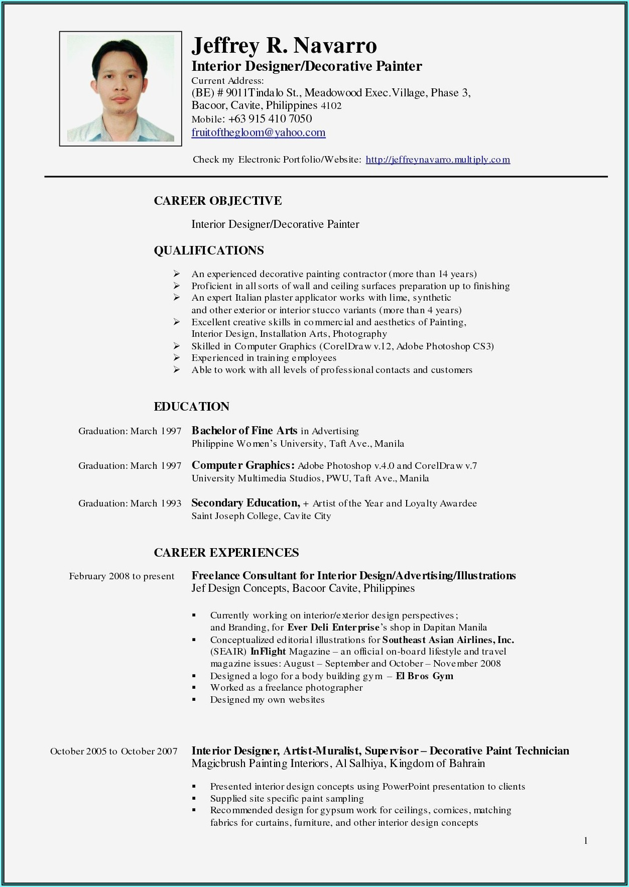 Resume Format For Nurses India