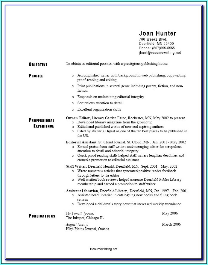 Resume Objective Examples For Part Time Jobs
