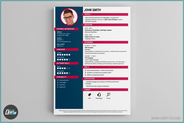 Resume Template Creator Free