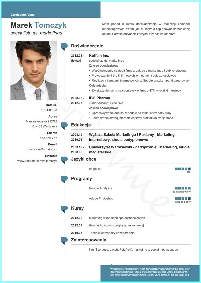 Resume Template Creator Online