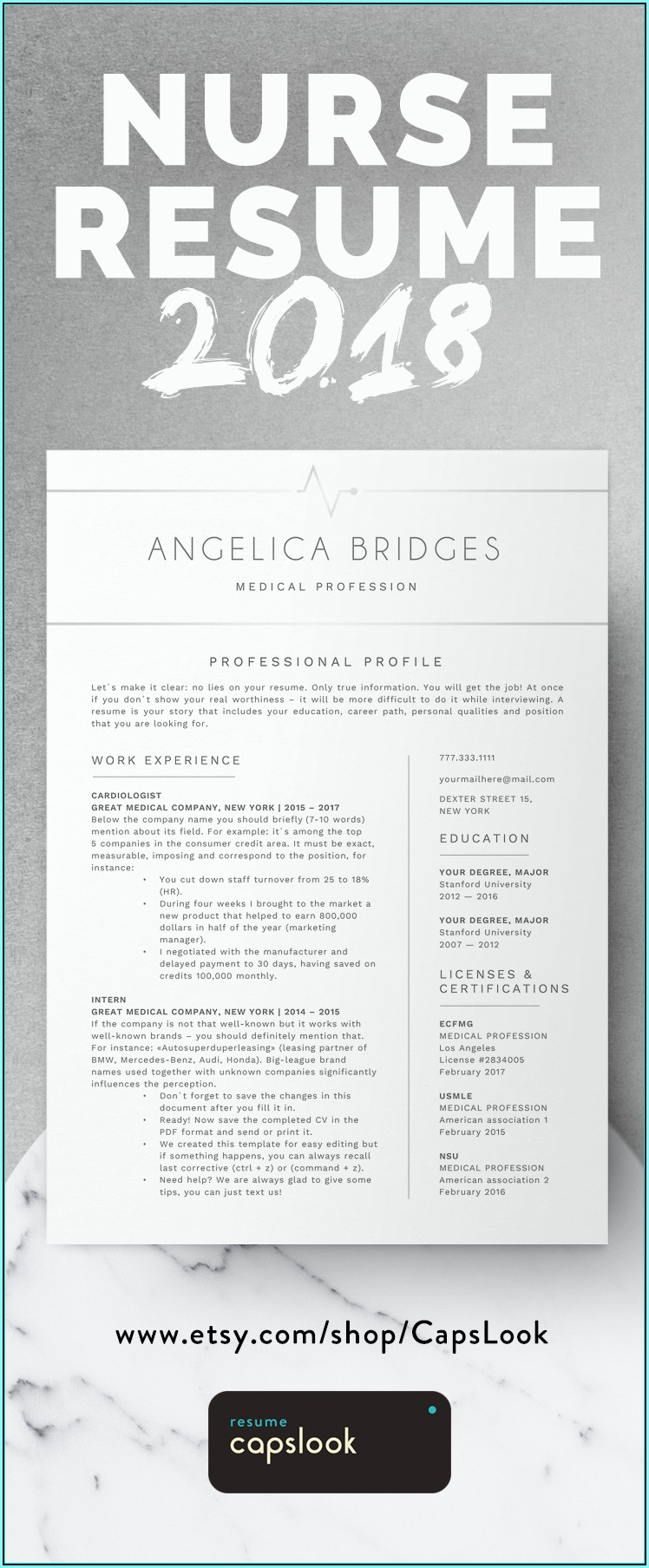 Resume Template For Registered Nurse