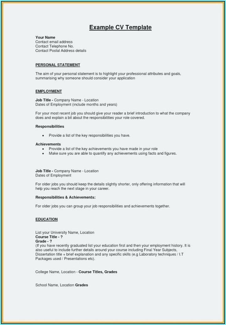 Resume Template Generator Free