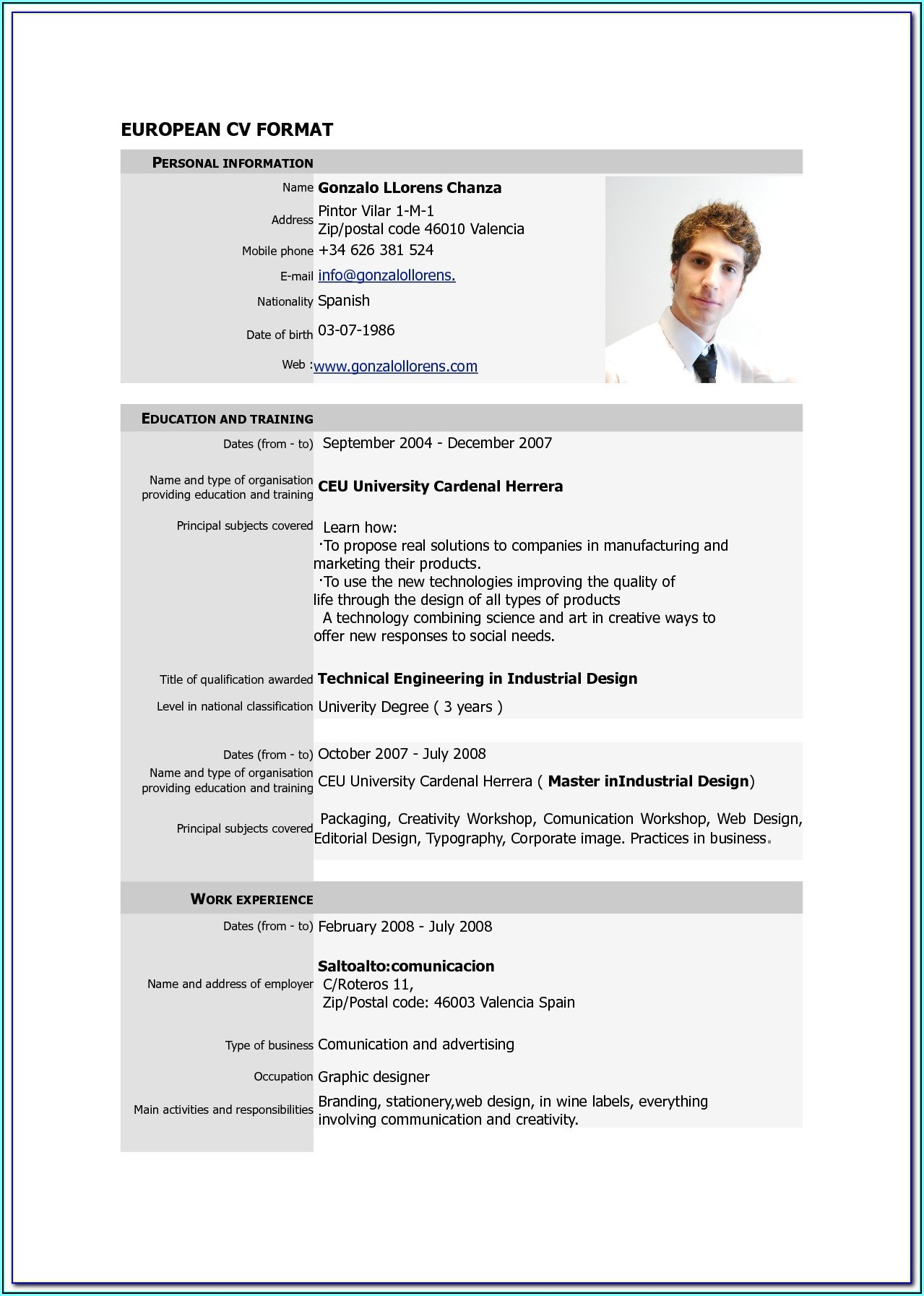 Resume Template Pdf Free Download
