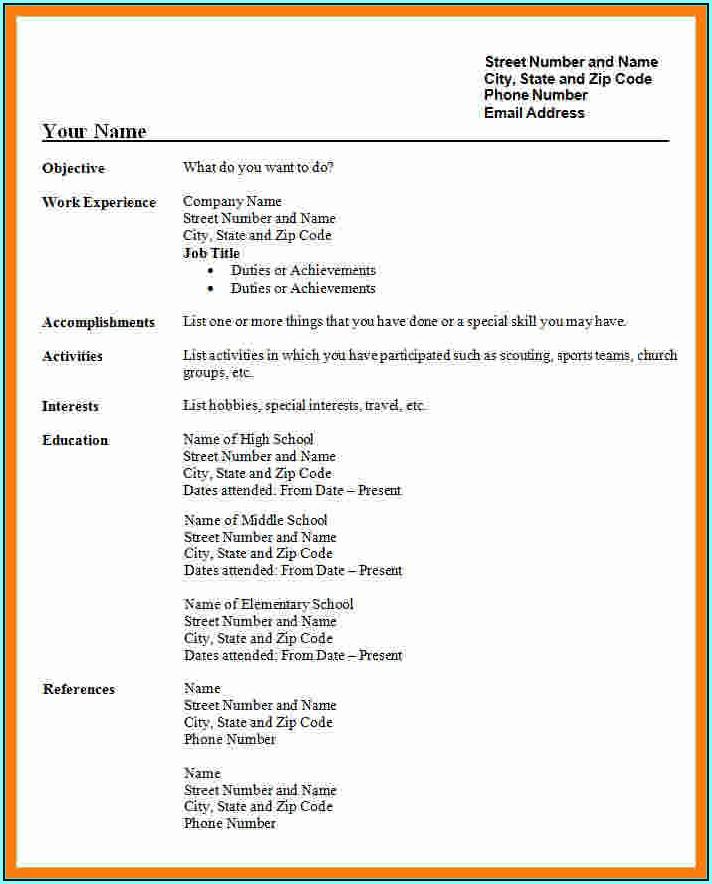 Resume Template Pdf Free