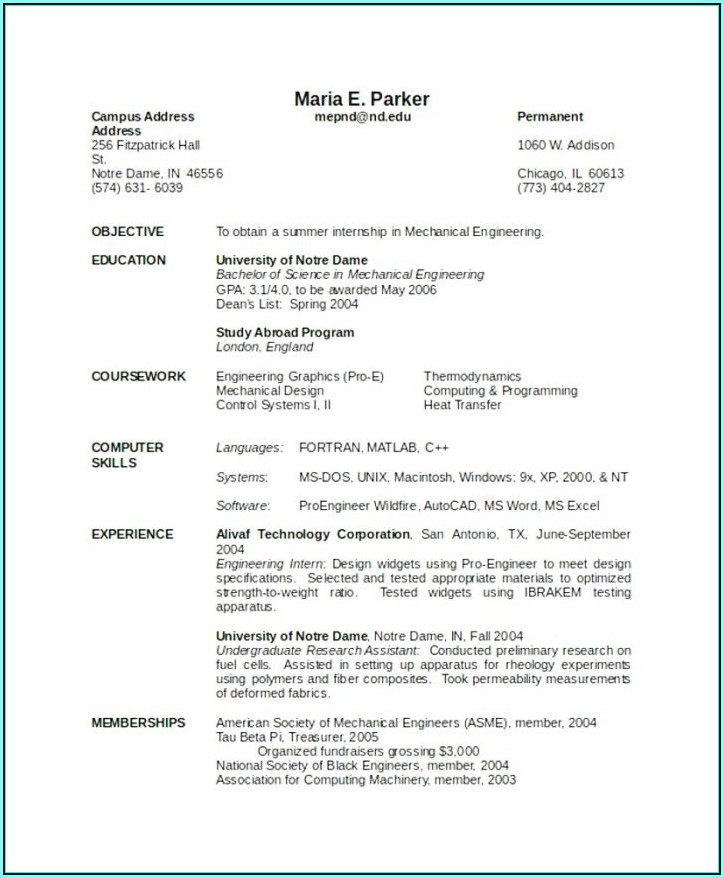 Resume Template Software Engineer Reddit