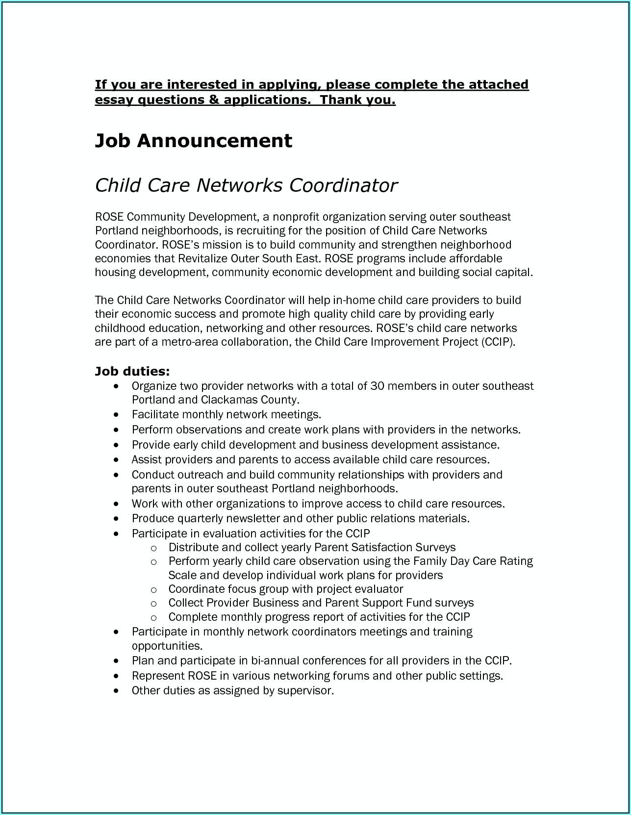 Resume Templates For Cna Job
