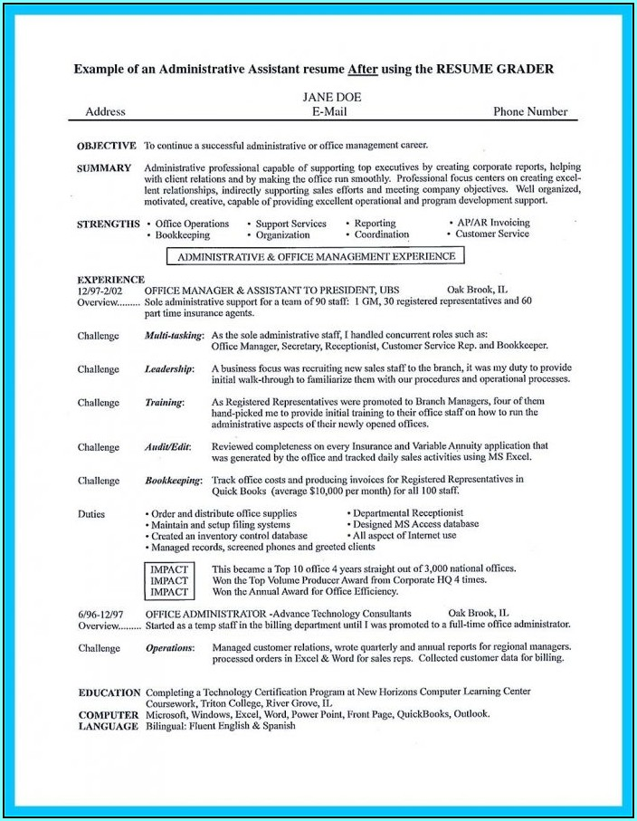 Resume Templates For Professional Positions